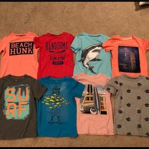 Lot of 8 Boys Carter's tops t-shirts size 7